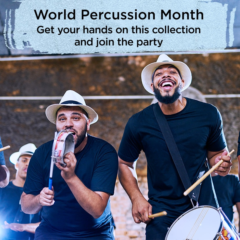 World Percussion Month.  Get your hands on this collection and join the party