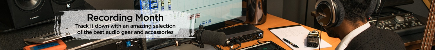 Recording Month. Track it down with an amazing selection of the best audio gear and accessories