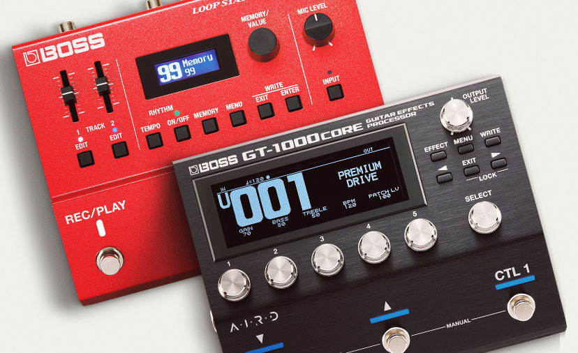 New BOSS Effects Pedals - Explore a World of Loops and Effects with the G.T. One Thousand and R.C. five hundred