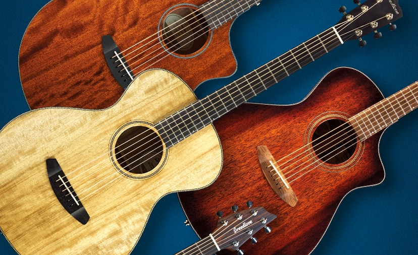 Lose the Blues With Breedlove Raise Your Voice with Great Sounding Acoustics and Save Up to 250 dollars on Select Series View Qualifying Products