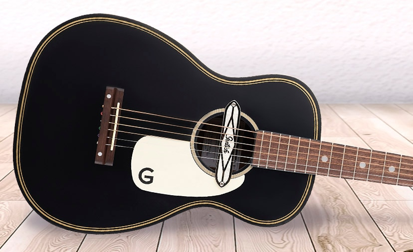 New Gretsch Gin Rickey Guitar Cool Retro Vibe with a Deltoluxe Magnetic Pickup