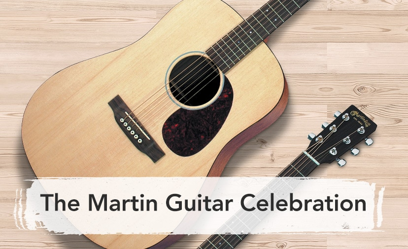 The Martin Guitar Celebration - Exciting new models, 48 month financing, 3 times rewards points and more - Shop Now or Call 800-449-9128