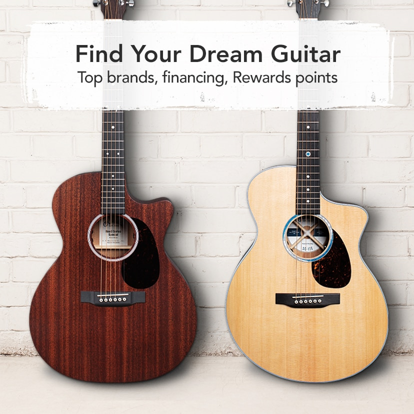 Find your Dream Guitar Top Brands, Financing, Rewards points