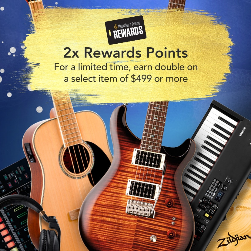 2x Rewards Points. For a limited time, earn double on a select item of 499 dollars or more.