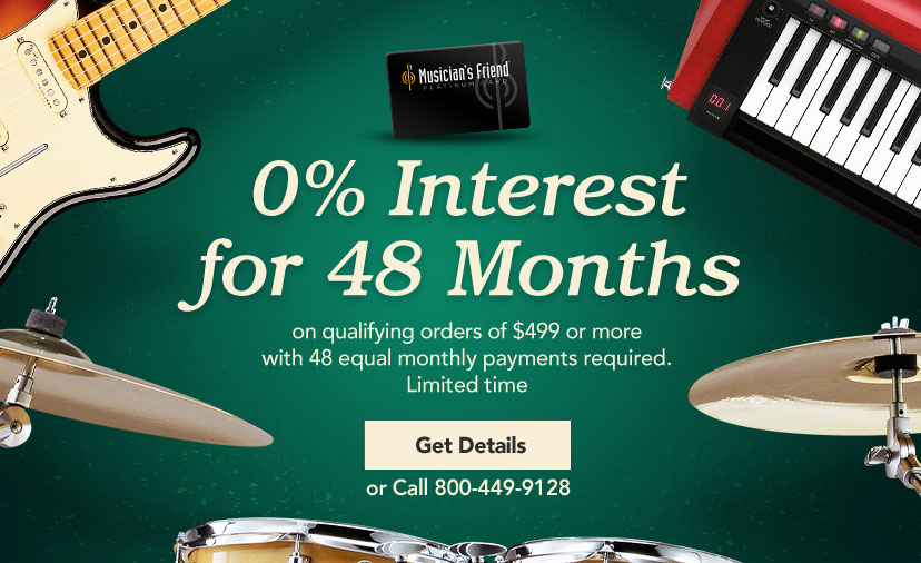 0% Interest for 48 Months on qualifying orders of four hundred ninety nine dollars or more with forty-eight equal payments required. Limited Time Get Details or call 800-449-9128