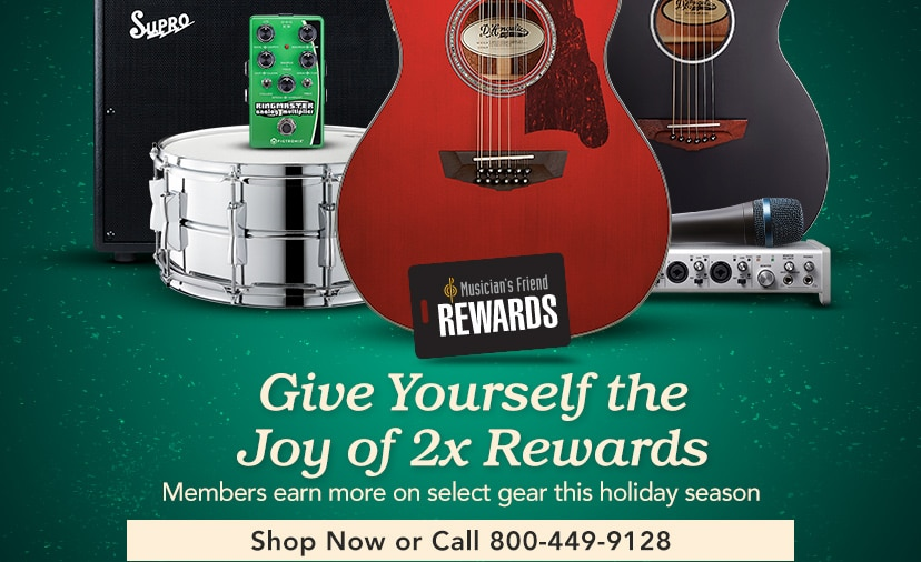 Give Yourself the Joy of Two Times Rewards Members earn more on select gear this holiday season
