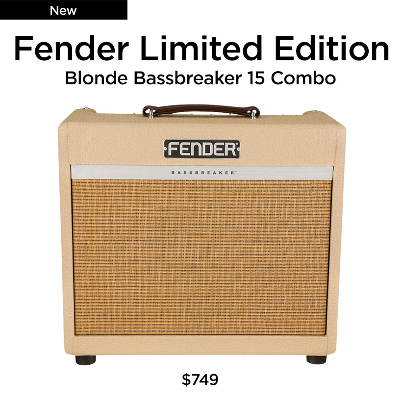 Fender Limited Edition, blonde Bassnreaker 15 combo