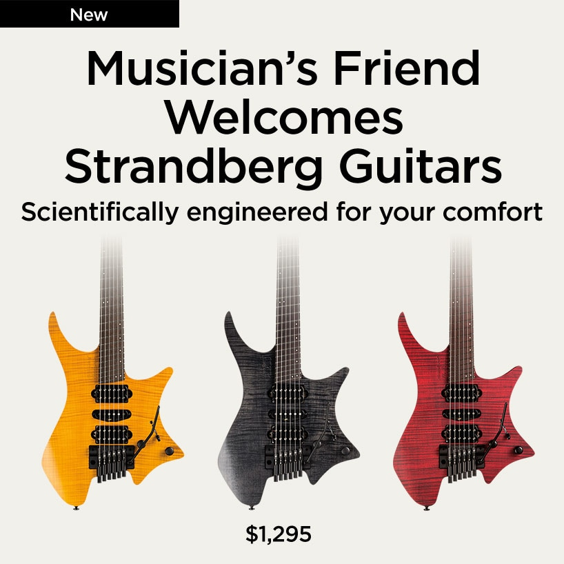 musician's friend welcomes strangberg guitars