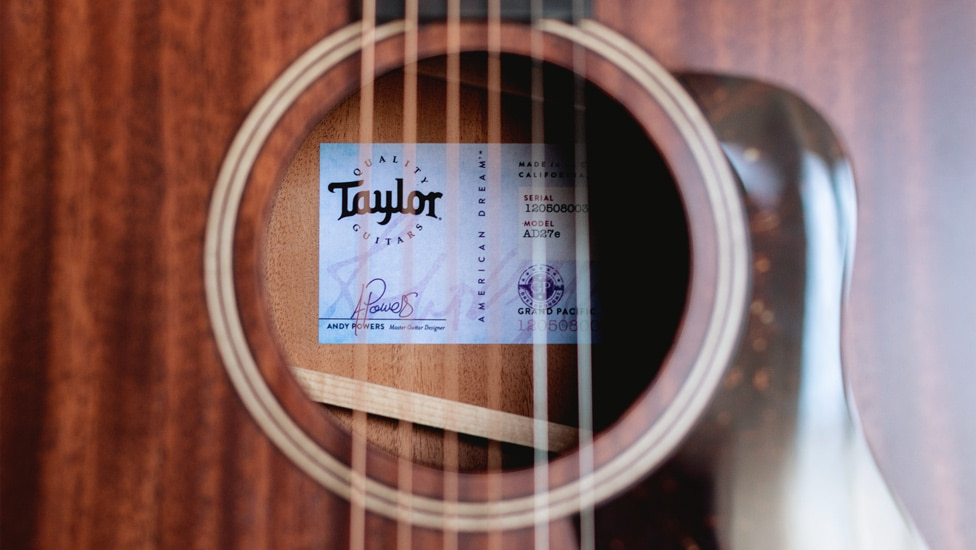 Taylor's American Dream acoustic guitars feature V-Class Bracing