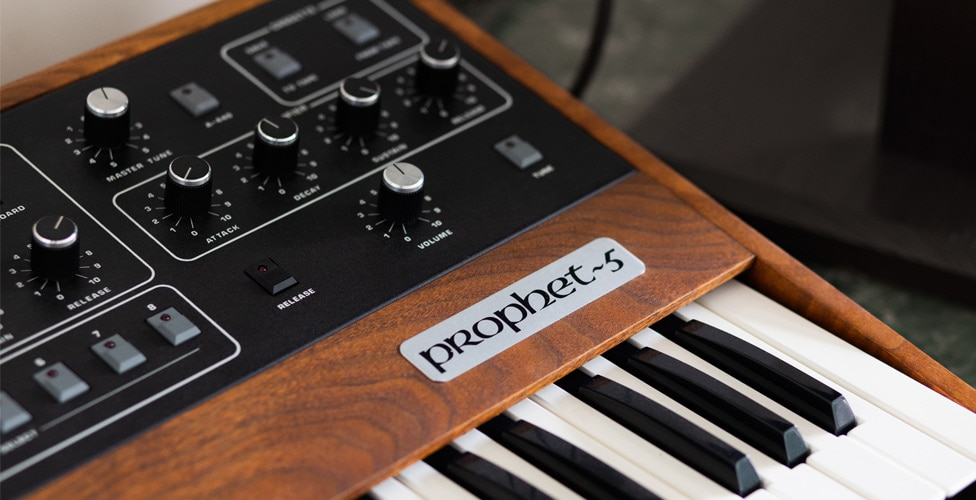 Sequential Circuits Prophet-5 at Sequential Headquarters in San Francisco, CA