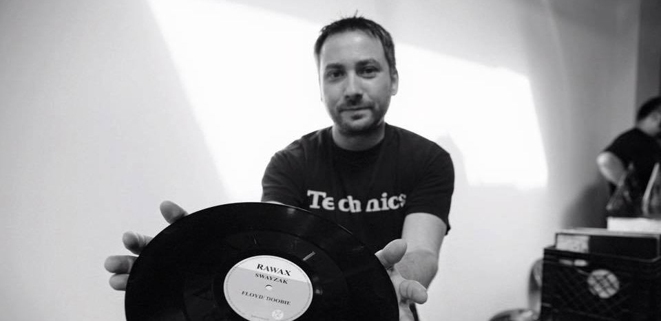 Todd Mariana holds some vinyl