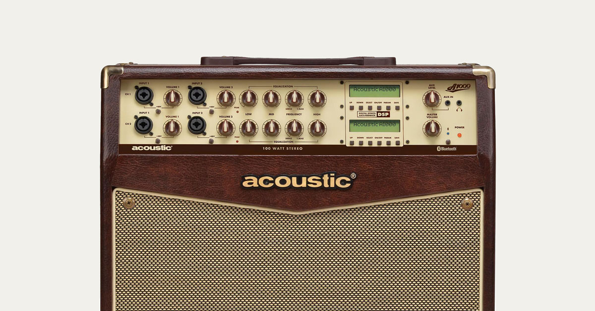 buying guide how to choose an acoustic guitar amp the hub. Black Bedroom Furniture Sets. Home Design Ideas