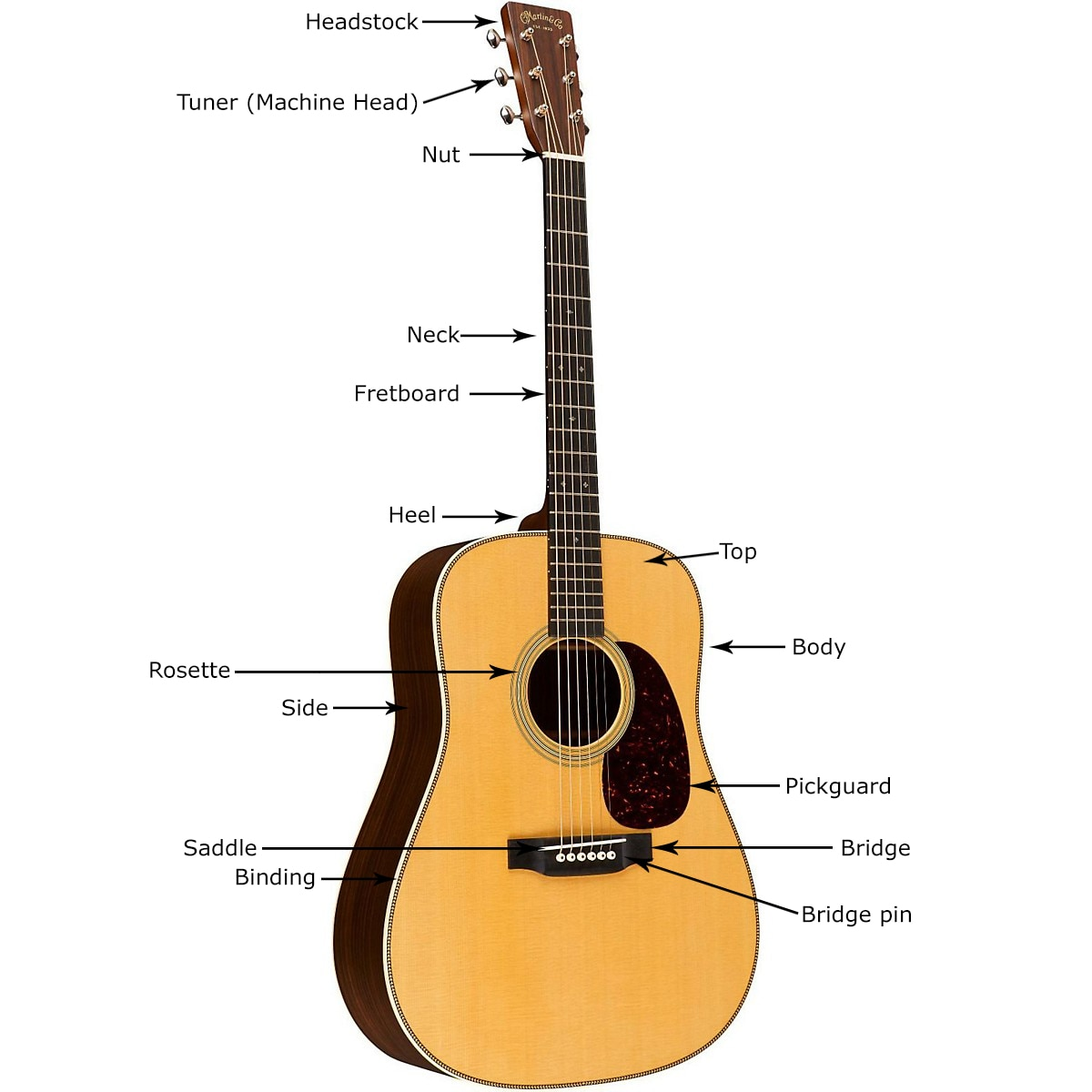 Buying guide how to choose an acoustic guitar the hub for Acoustic guitar decoration
