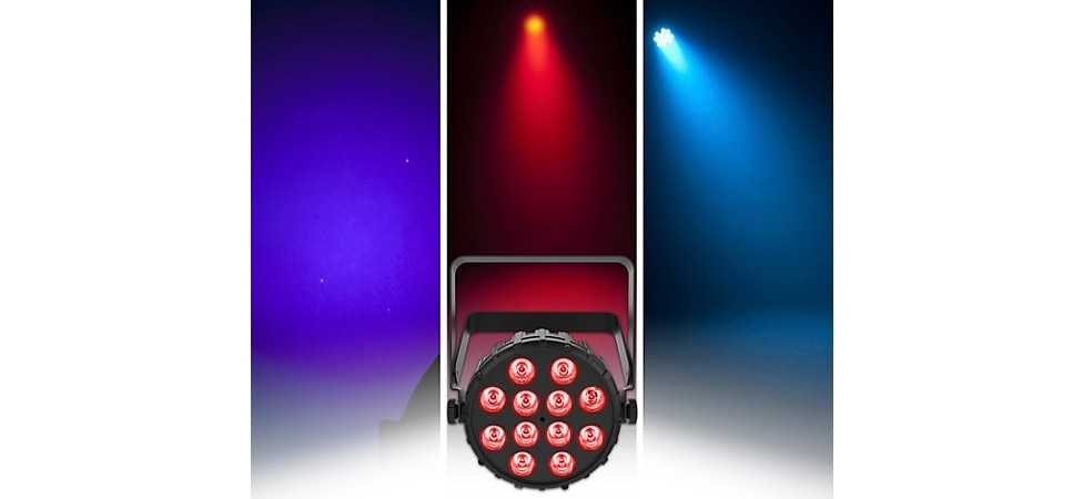 CHAUVET DJ SlimPAR T12 BT RGB LED PAR Wash Light with Bluetooth