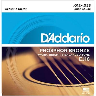 DAddario Phosphor Bronze Acoustic Guitar Strings
