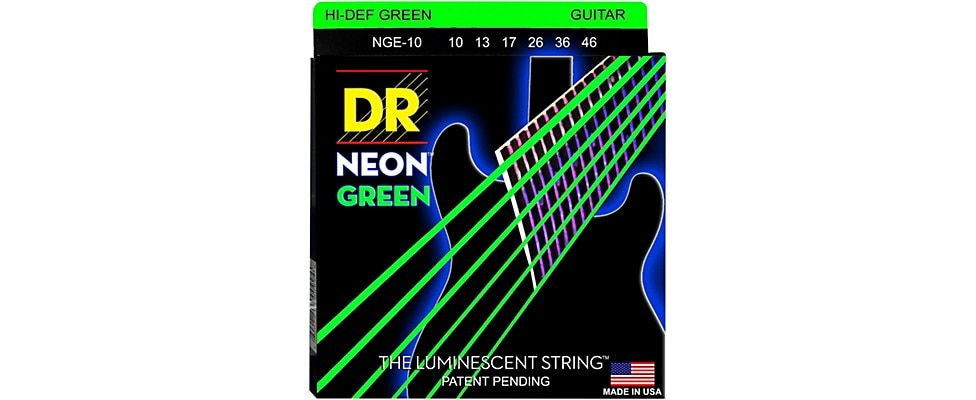 DR Strings Neon Green Electric Guitars