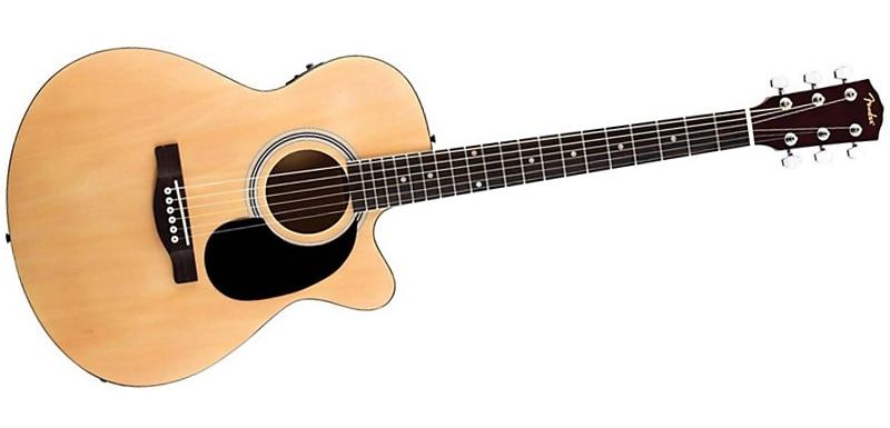 Fender Fa 135ce Cutaway Concert Acoustic Electric Guitar Natural
