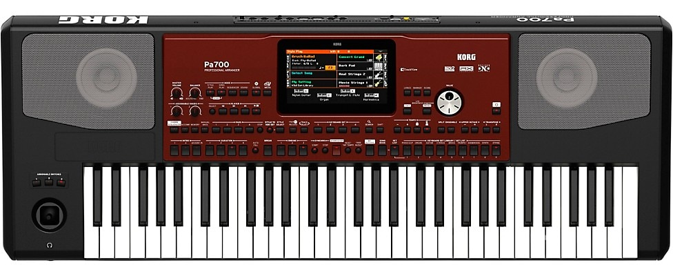Korg Pa700 Arranger Keyboard view from above