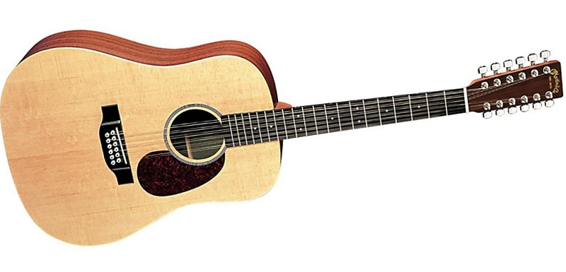 Martin X Series D12X1AE Custom Acoustic-Electric Guitar Natural Solid Sitka Spruce Top