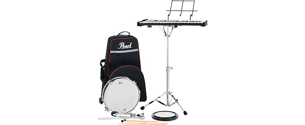 Pearl PL-910C Educational Snare and Bell Kit with Rolling Cart 13 in.
