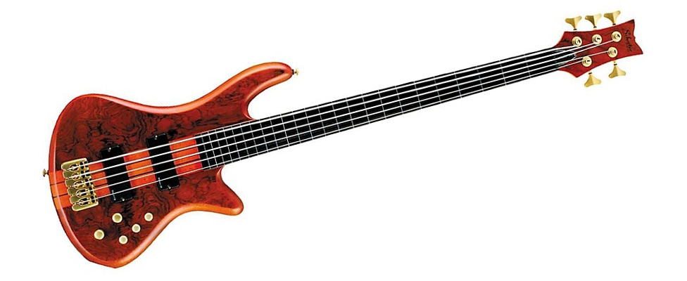 Schecter Guitar Research Stiletto Studio-5 Bass Satin Honey