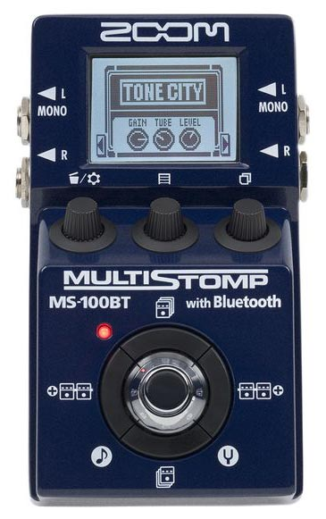 Zoom MS100BT Multistomp Bluetooth Multi FX Pedal