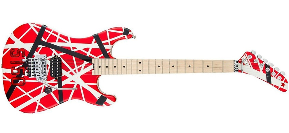 The EVH Striped Series 5150 Electric Guitar with maple neck and fingerboard