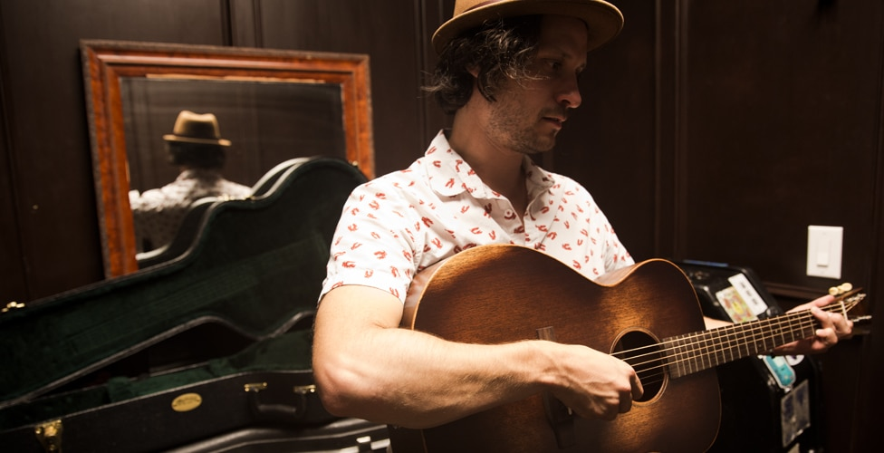 Jamie with his Martin 000-15M Streetmaster Acoustic Guitar