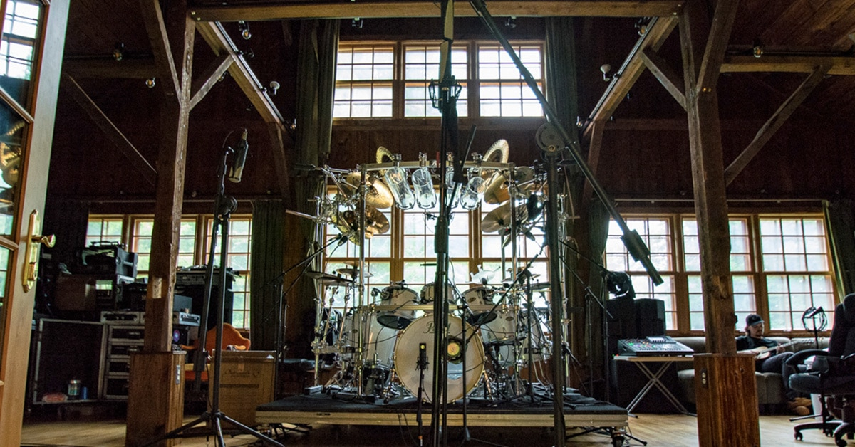 "Recording Mike Mangini's Drums for Dream Theater's album ""Distance Over Time"""