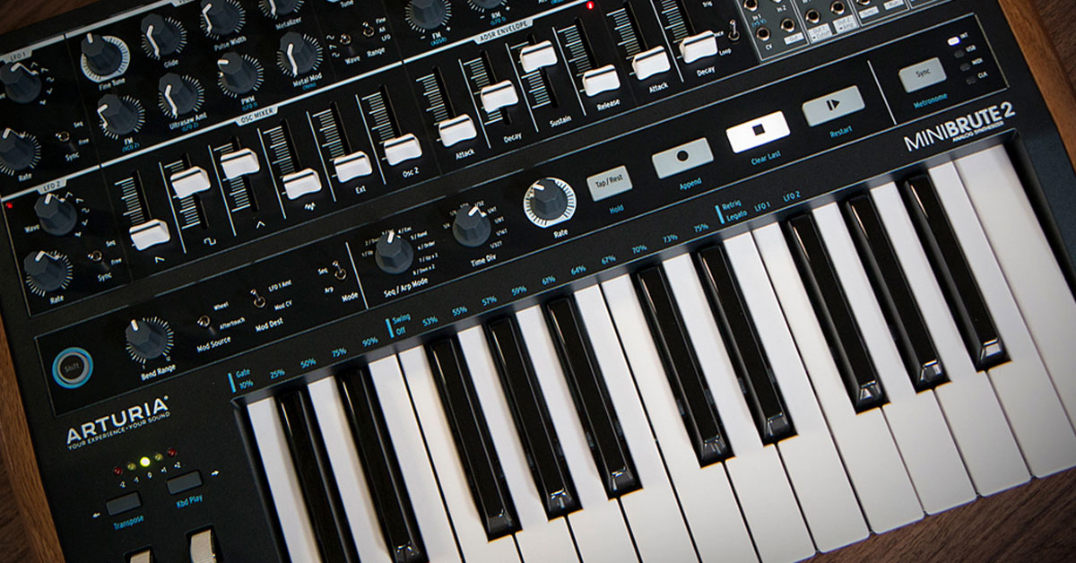 arturia minibrute 2 analog synthesizer announced the hub. Black Bedroom Furniture Sets. Home Design Ideas