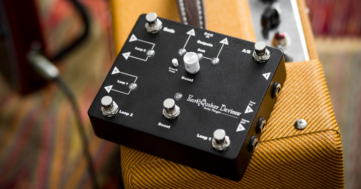 EarthQuaker Devices Introduces Swiss Things Pedalboard Solution