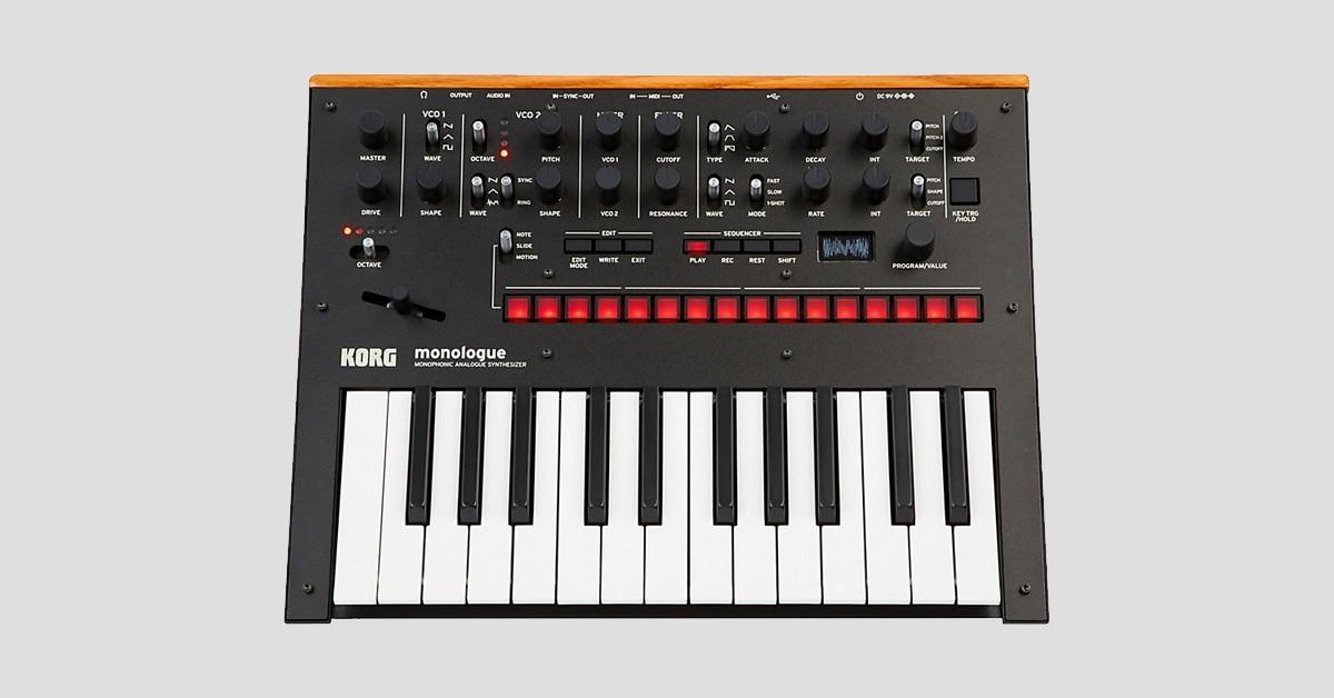 product spotlight korg monologue analog synthesizer the hub. Black Bedroom Furniture Sets. Home Design Ideas