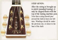 Step 7 Solid Headstock String Clipping Flush